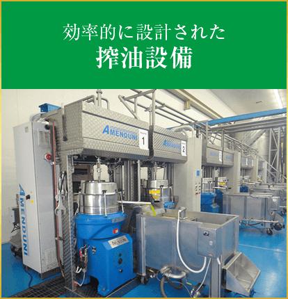 効率的に設計された搾油設備